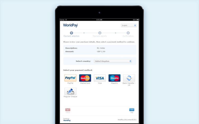 worldpay payment gateway integration guide